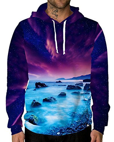 Mist Long Jacket - INTO THE AM Midnight Mist Premium All Over Print Hoodie (Large)
