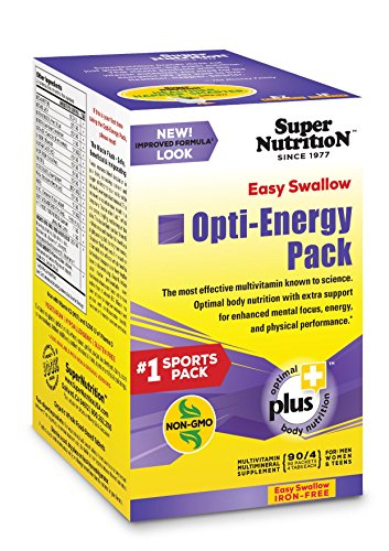SuperNutrition EZ Swallow Opti-Energy Iron-Free Multivitamin, 90 Day Supply; Best Value Pack