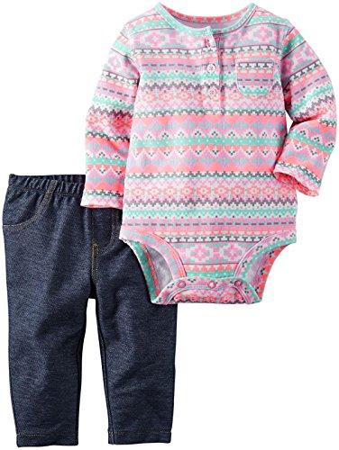 Carters Baby Girls Bodysuit Pant
