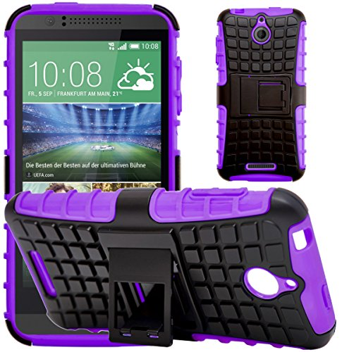 C Desire 510, Shock Absorption Cover with Kickstand, Purple ()