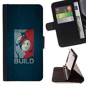 Momo Phone Case / Flip Funda de Cuero Case Cover - Construir Gaming;;;;;;;; - Samsung Galaxy S5 Mini, SM-G800