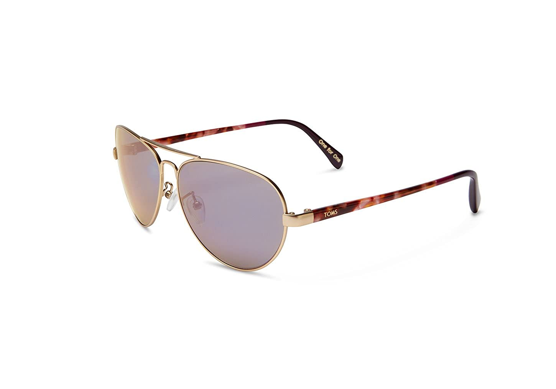00d0a0473eb Amazon.com  TOMS Unisex-Adult Maverick 201 Sunglasses Black  Clothing