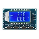 DROK LCD Display PWM Frequency Monitor Meter, 1Hz-150kHz Adjustable Duty Ratio 0~100% Square Wave Rectangular Wave Signal Generator Module