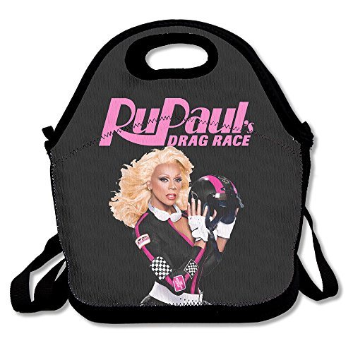 RuPaul's Drag Rac Lunch Bag Travel Zipper Organizer Bag, Waterproof Outdoor Travel Picnic Lunch Box Bag Tote With Zipper And Adjustable Crossbody Strap