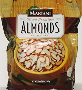 MARIANI Sliced Premium Almonds All Natural - 32 Oz from mariani