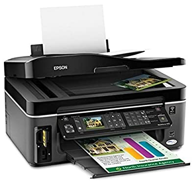Epson WorkForce 615 Wireless Color Inkjet All-in-One Color Printer, Copier, Fax Machine, Scanner