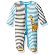 Best Beginnings Baby Boys' Footie, Multi Stripe, 6M