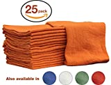 Kyпить Auto-Mechanic Shop towels, Rags by Nabob Wipers 100% Cotton Commercial Grade Perfect for your Home Garage & Auto Body Shop (14x14) inches, 25 Pack, (Orange) на Amazon.com