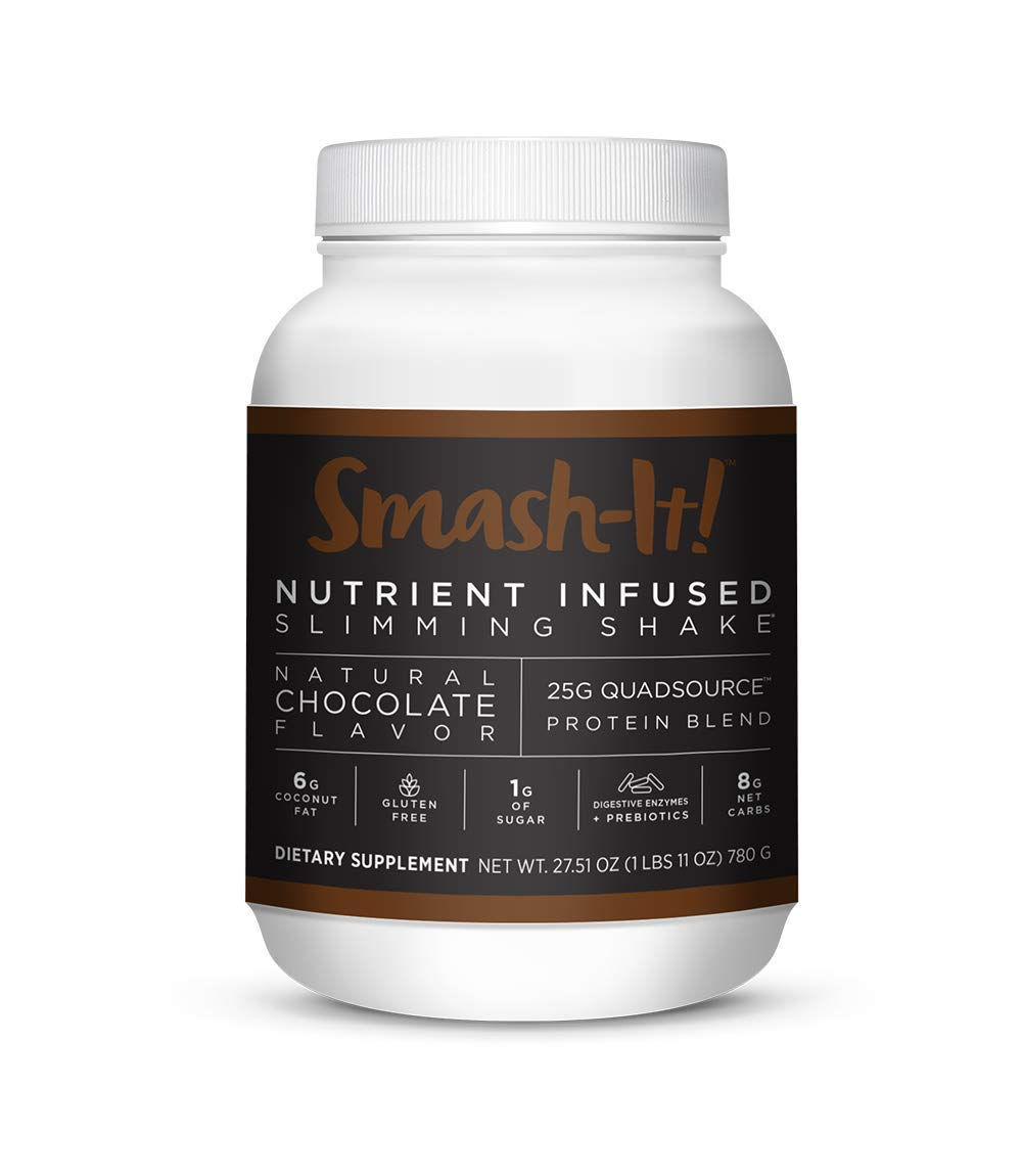 Primal Labs Smash-It! Nutrient Infused Weight Loss Shake, Gluten-Free, Non-GMO, High Protein Powder, Delicious Chocolate Taste, Free E-Book with Every Purchase. by Primal Labs