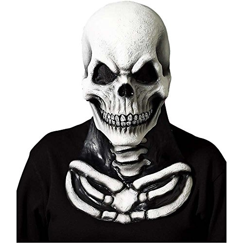 Dead Clown Costumes (Men's Soft Skeleton Mask with Chest Piece)