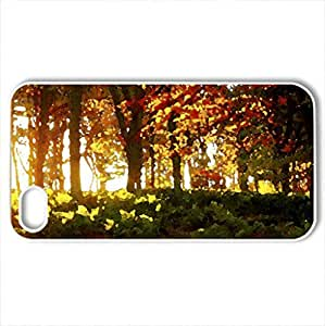 AUTUMN RAYS - Case Cover for iPhone 4 and 4s (Forests Series, Watercolor style, White)