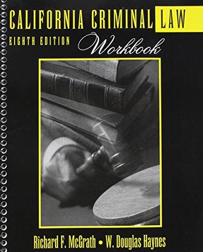 California Criminal Law Workbook