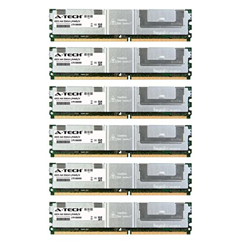 (24GB KIT (6 x 4GB) for Dell PowerEdge Series 2900 2900 III. DIMM DDR2 ECC Fully Buffered PC2-5300 667MHz RAM Memory. Genuine A-Tech Brand.)