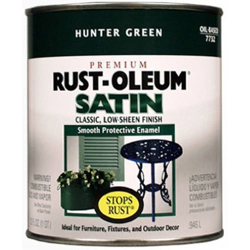 Rust-Oleum 7732502 Stops Rust, 32 oz. Quart, Hunter Green Satin Finish (Hunter Satin Green)