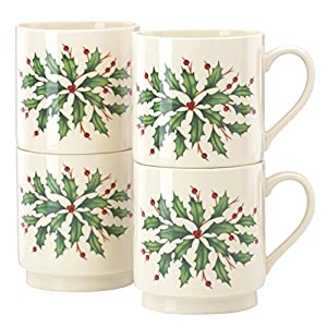 Lenox Holiday Stackable Mugs, Set of 4