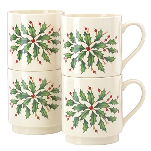 - Lenox Holiday Stackable Mugs, Set of 4