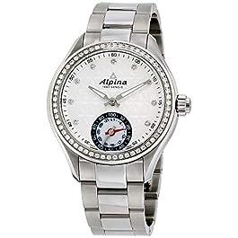Alpina Women's AL-285STD3CD6B Horological Smart Analog Display Swiss Quartz Silver Watch
