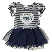 OuterStuff NFL Girl's Infant and Toddlers Celebration Sequin Tutu, Seattle Seahawks 12 Months