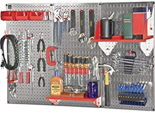 product image for Wall Control Slotted Pegboard Industrial Workstation Accessory Kit - Red, Model Number 35-K-WRKRD