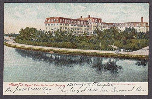Miami FL Royal Palm Hotel & Grounds postcard 1910s