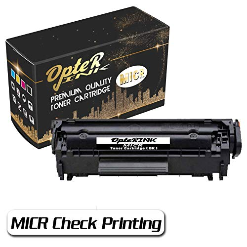 - OpterInk CB536A MICR Check Printing Toner Cartridge Compatible for HP Laserjet M1319f Multifunction Printer,for Check Printing