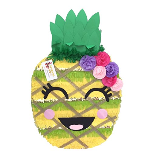APINATA4U Cute Pineapple Pinata with Flowers]()