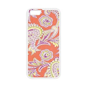 iPhone 6 4.7 Inch Cell Phone Case White Turkish Paisley in Nectarine D5R1OR
