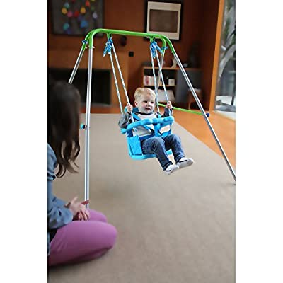Walmart Sportspower My First Toddler Durable Molding Plastic Swing Seats Security Safe Harnesses Foldable Frame Powder Coating: Toys & Games