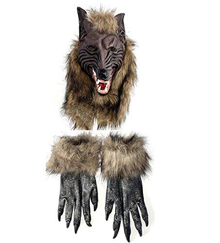 Ms.Yanger Cosplay Party Mask Werewolf Skull Halloween Wolf Head (Halloween Word Scramble For Adults)