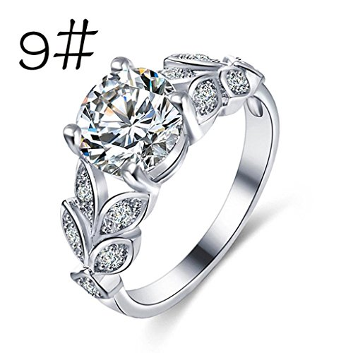 Womens rings,Lamolory Flower Crystal Wedding Ring For Jewelry Accessories Rose Gold Gold (Diamond Flower Right Hand Ring)