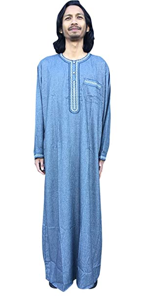 741c8c6b4b88 Desert Dress Long Sleeve BrownThobe Mens Robe Round Neck Pocket Colors  Sizes Boy Eid Dubai Dishdasha Long Shirt Costume Sheikh Casual Summer Hot  Kaftan  ...