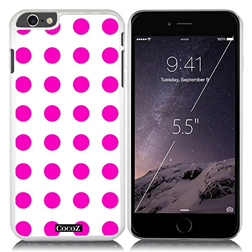 New Apple iPhone 6 s Plus 5.5-inch CocoZ® Case Beautiful lovely wave point PC (Rose Pink point & White PC - Dahlia White Reviews