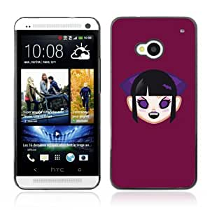 Designer Depo Hard Protection Case for HTC One M7 / Cute Vampire Girl