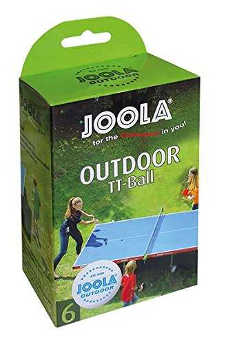 JOOLA OUTDOOR BALL  Balles de tennis de table d'extérieur, blanc, 40mm