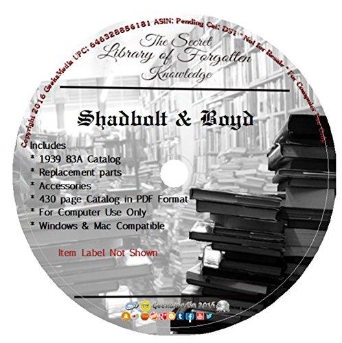 Shadbolt Boyd Automotive Catalog : 83A 1939, Antique Tools, Parts & Electrical DS2