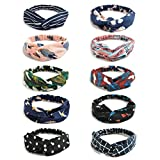 10 Pack Women's Headbands Boho