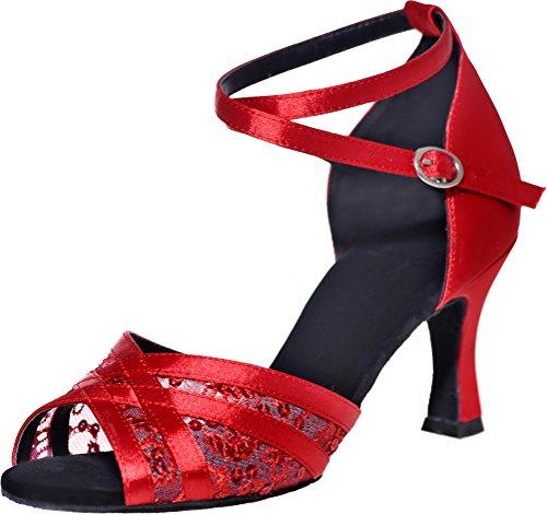 de Salón Nice Red De Mujer Satén Find PAUwOxq
