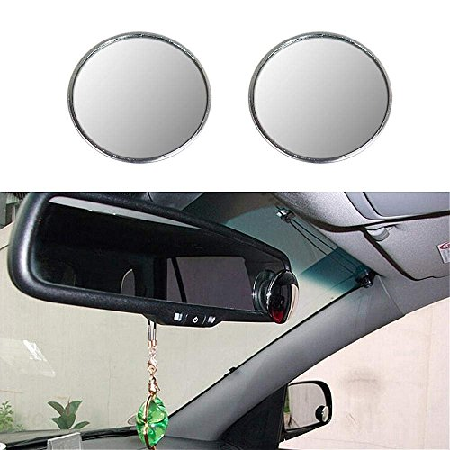 Aumo-mate 1 Pair New Driver Side Wide Angle 3-inch Round Convex Car Vehicle Blind Spot Mirror Rear-View Under Mirror