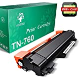 GREENSKY TN760 TN-760 TN 760 Toner Cartridge (with IC CHIP) - 1Pack for Brother MFC-L2730DW MFC-L2710DW MFC-L2750DW HL-L2350DW TN730 Toner (Black)