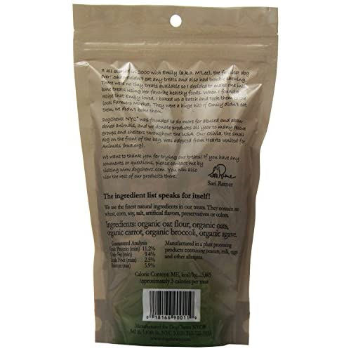 new DogChewz NYC Toy Temptations All Natural Dog Treats, 8-Ounce, Agave/Broccoli/Carrot