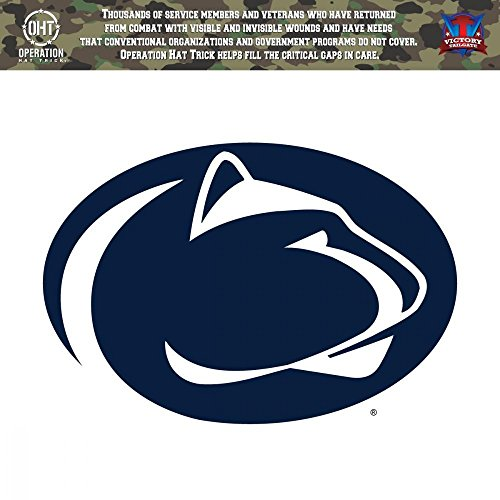 Victory Tailgate Penn State University Nittany Lions Operation Hat Trick OHT Die Cut Vinyl Decal (12 Inch) ()