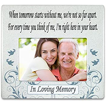 BANBERRY DESIGNS When Tomorrow Starts Without Me Ceramic Memorial Picture Frame - Beautiful Tribute to The Loss of a Loved One - Traditional Design Goes ...