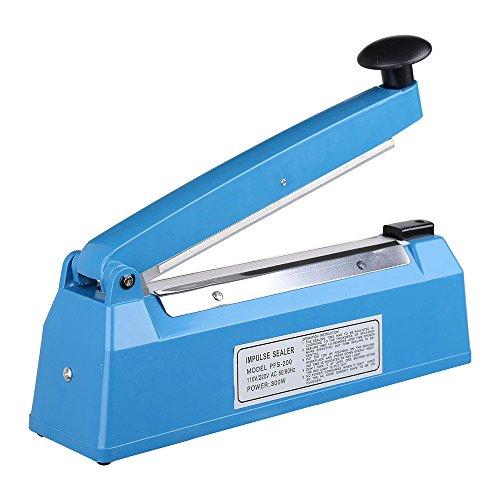 Yescom 8'' 200mm Impulse Manual Hand Sealer Heat Sealing Machine Poly Tubing Plastic Bag by Yescom (Image #3)