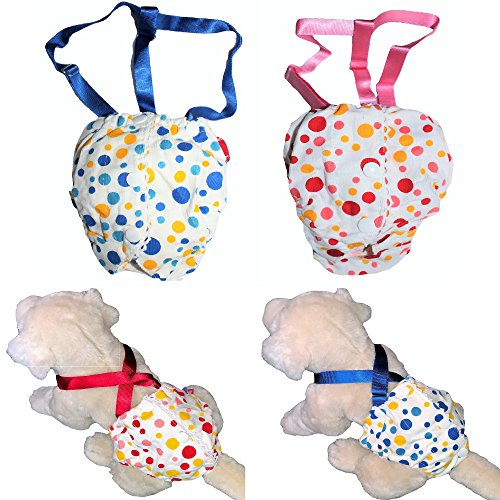 Pictures of FunnyDogClothes Female Dog Diaper With Suspenders COTTON 2