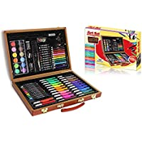 Style Asia 86-Pc Art Set with Wooden Carrying Case
