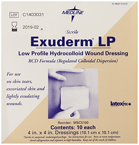 Medline Dressing Exuderm Hdrocolloid Count