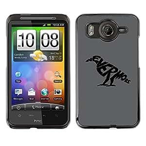 Caucho caso de Shell duro de la cubierta de accesorios de protección BY RAYDREAMMM - HTC G10 - NEVERMORE Raven