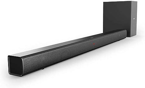 Barra de Sonido Bluetooth Philips HTL1520B/12 (Bluetooth, Subwoofer Inalámbrico, HDMI ARC, Entrada de Audio de 3.5 mm, Diseño Plano, 70 Vatios), Color Negro: Amazon.es: Electrónica