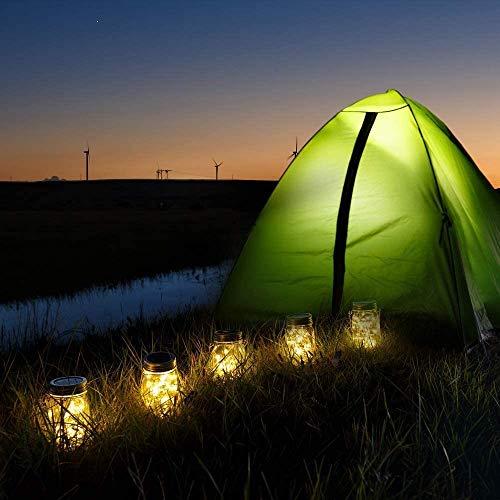 Solarlampen für außen, 30 LED Lichterkette im Glas Laterne Warmweiß, Wasserdichte Solarlaterne Dekoration für Garten Party Balkon