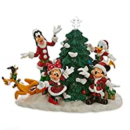 Disney Store Santa Mickey Mouse and Friends Light-Up Tree Figure